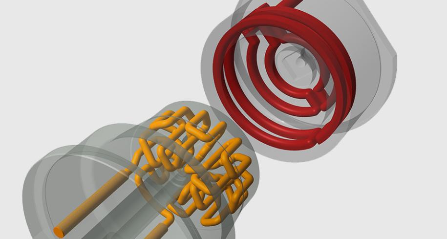 Simulation eines konturnah gekühlten Formeinsatzes iQtemp